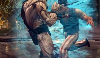 Dress as Uncle Sam and attack the Zin invaders in the video game Saints Row IV.