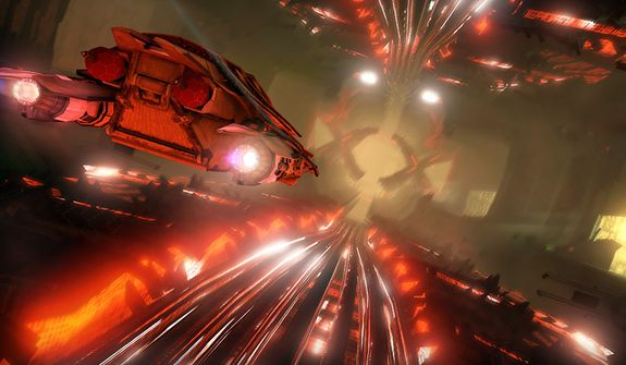 A player spends time escaping from the Zin in a space race in the video game Saints Row IV.