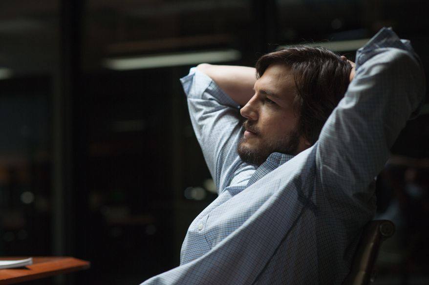 "Ashton Kutcher as Steve Jobs in a scene from ""Jobs."" (AP Photo/Open Road Films, Glen Wilson)"