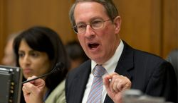 "A ""step-by-step approach is the way to do it with enforcement coming first,"" said Rep. Bob Goodlatte, Virginia Republican, regarding immigration reform. (ASSOCIATED PRESS)"