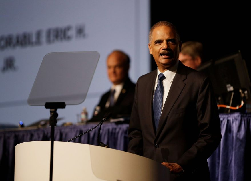 Attorney General Eric H. Holder Jr., addressing the American Bar Association last week in San Francisco, called for major changes to the criminal justice system that would cut back the use of mandatory minimum sentences for certain drug-related crimes. (ASSOCIATED PRESS PHOTOGRAPHS)