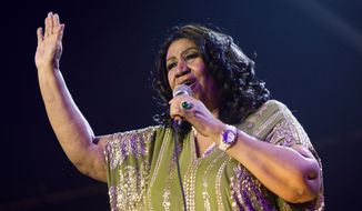 Aretha Franklin performing in Newark, N.J. in 2013. (Photo by Charles Sykes/Invision/AP, File)