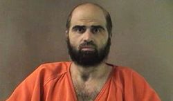 "The Obama administration resisted designating as ""terrorism"" the 2009 shootings by Nidal Malik Hasan, above,  at Fort Hood that killed 13 and wounded over 30. (Bell County Sheriff's Department via Associated Press)"