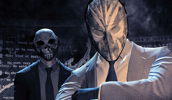 Examples of some of the customizable masks in the video game Payday 2.