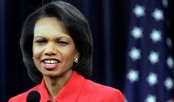 Condoleezza Rice, who served as secretary of state in the George W. Bush administration, has spoken out about the situation in Syria, saying the U.S. should have intervened militarily and armed the rebels sooner. (Associated Press)