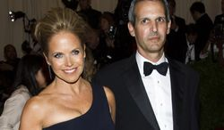"""** FILE ** TV personality Katie Couric and financier John Molner, her longtime beau, attend the Metropolitan Museum of Art's Costume Institute benefit celebrating """"PUNK: Chaos to Couture"""" in New York on Monday, May 6, 2013. (Charles Sykes/Invision/AP)"""