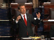 During his 13-hour filibuster in March to protest U.S. drone policy, Sen. Rand Paul, Kentucky Republican, snacked on candy at his desk. Senate curators were called quickly afterward to clean up any messes. (Associated Press)
