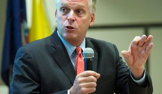 Terry McAuliffe has made a point that Republican Kenneth T. Cuccinelli II's comments about the lesbian and gay community are inimical to economic growth. The numbers, however, say Virginia has done well in the past four years under GOP leadership. (Associated Press)