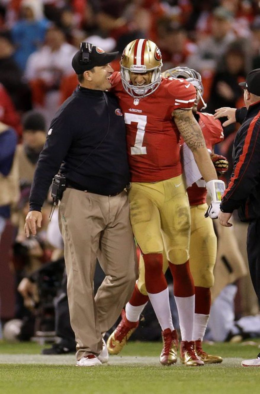 The coach-quarterback combination is key to any franchise's staying power. In Jim Harbaugh and Colin Kaepernick, the defending NFC champion 49ers are set up to succeed for years to come. (associated press photographs)