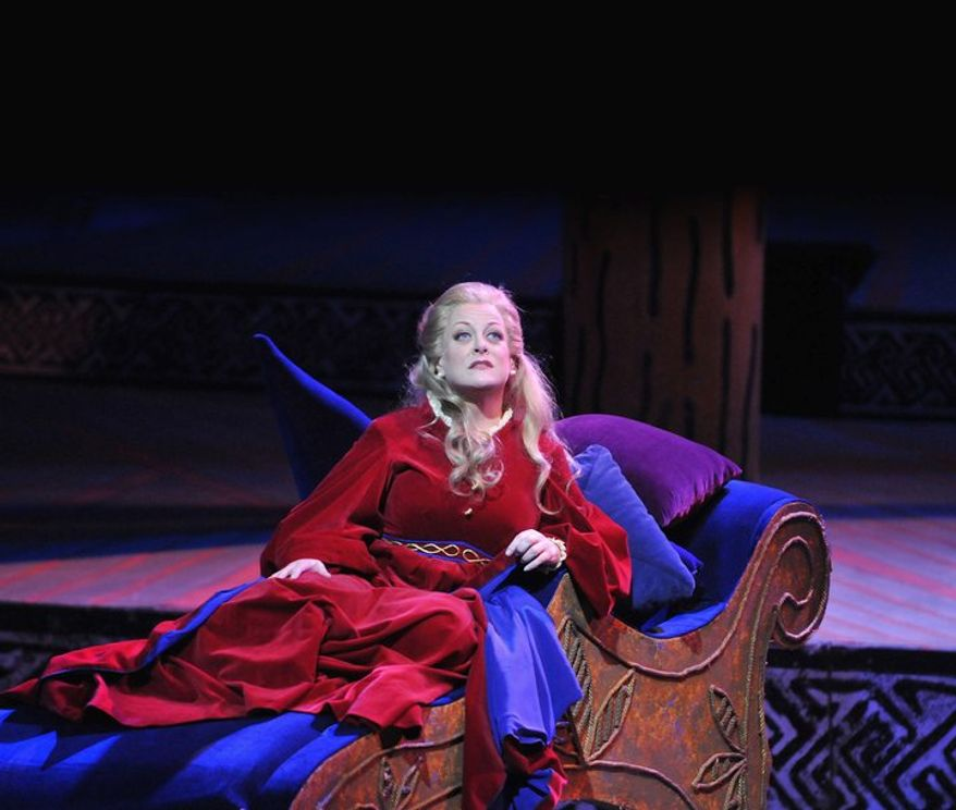 """Deborah Voigt first performed with the Washington National Opera in 2010 and returns to star as Isolde in """"Tristan and Isolde,"""" conducted by Philippe Auguin. (Photographs courtesy of the Washington National Opera)"""