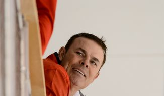 Washington Capitals head coach Adam Oates watches afternoon practice during the 2013 Capitals Rookie Camp at Kettler Capitals Iceplex, Arlington, Va., Thursday, September 5, 2013. (Andrew Harnik/The Washington Times)