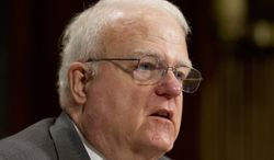 **FILE** Rep. James Sensenbrenner, Wisconsin Republican, testifies July 17, 2013, at a Senate Judiciary Committee hearing on the Voting Rights Act on Capitol Hill. (Associated Press)