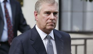 Britain's Prince Andrew (AP Photo/Sang Tan)