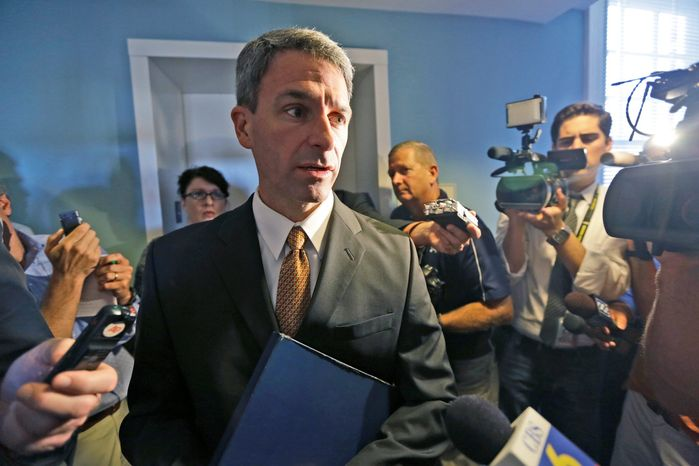 Paying: Kenneth T. Cuccinelli II says he has written a check to Cross Over Ministry for $18,000, the same amount he reportedly received from a businessman. (Asso