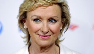 Tina Brown (shown at the Women in the World Summit 2012 in New York), the editor who oversaw the ill-fated merger of Newsweek and the Daily Beast website, announced Wednesday she is parting ways with the company. (AP Photo/Evan Agostini, File)