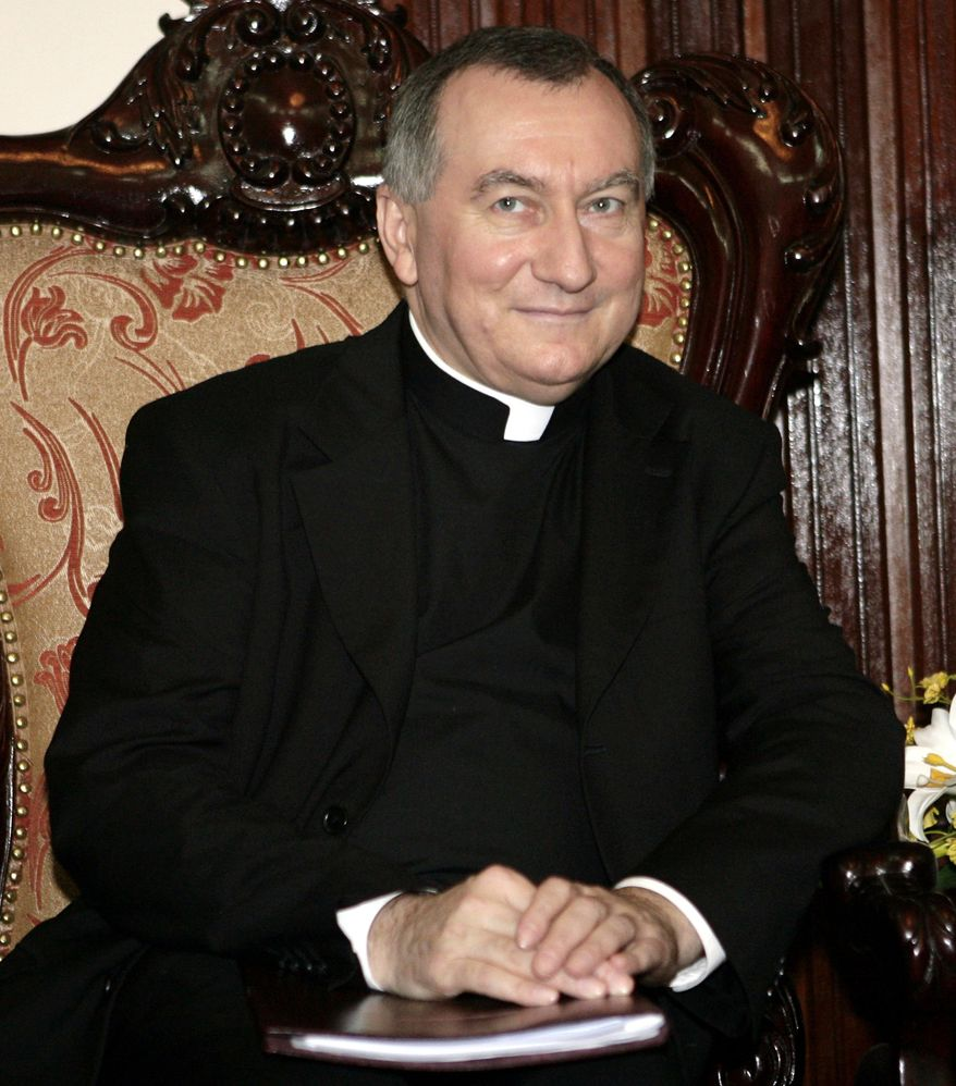 ** FILE ** Archbishop Pietro Parolin, pictured in 2009 when he was a monsignor, was appointed Vatican secretary of state by Pope Francis on Saturday, Aug. 31, 2013. (AP Photo/Tran Van Minh)