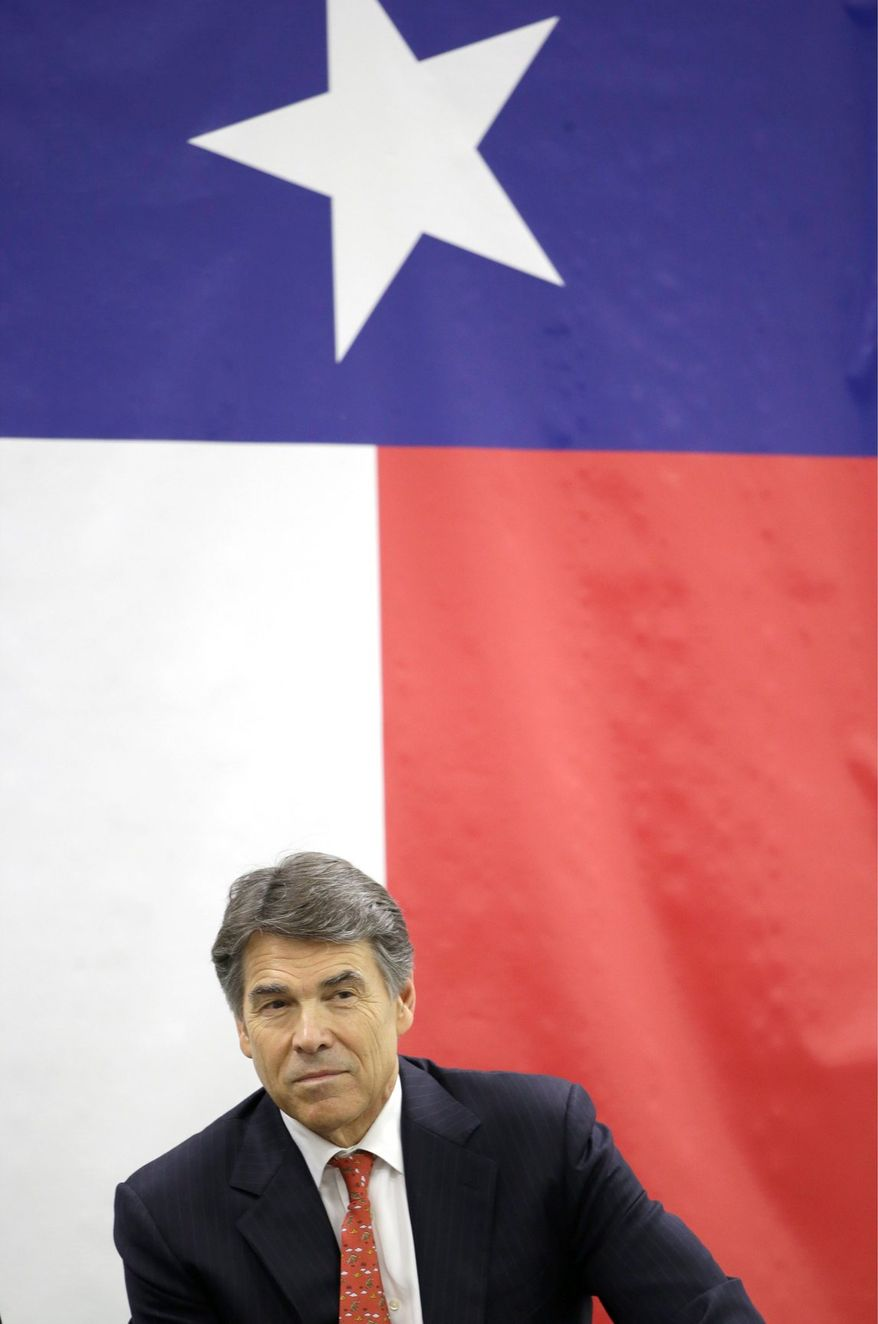"""Texas Gov. Rick Perry will be coming to Maryland next week """"to highlight Texas' commitment to keeping taxes low."""" (associated press)"""