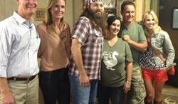 """Elisabeth Hasselbeck debuts Monday on the Fox News Channel's """"Fox & Friends"""" with co-hosts Steve Doocy and Brian Kilmeade and a visit with Korie, Willie and """"Miss Kay"""" Robertson of """"Duck Dynasty"""" in Louisiana next week. (Fox News Channel)"""