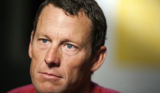 ** FILE ** In this Feb. 15, 2011, file photo, Lance Armstrong pauses during an interview in Austin, Texas. (AP Photo/Thao Nguyen, File)