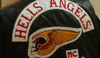 Hells Angels jacket. (Associated Press) ** FILE **