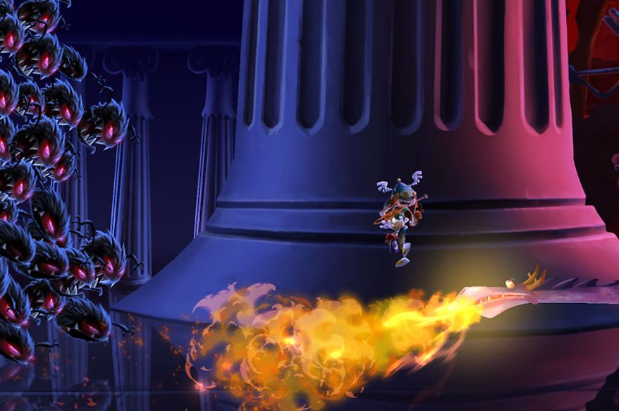 Viking princess Barbara escapes nightmares and flames with her best friend in the video game Rayman Legends.