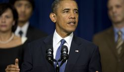 President Obama speaks in the South Court Auditorium at the White House complex on Sept. 16, 2013. (Associated Press)