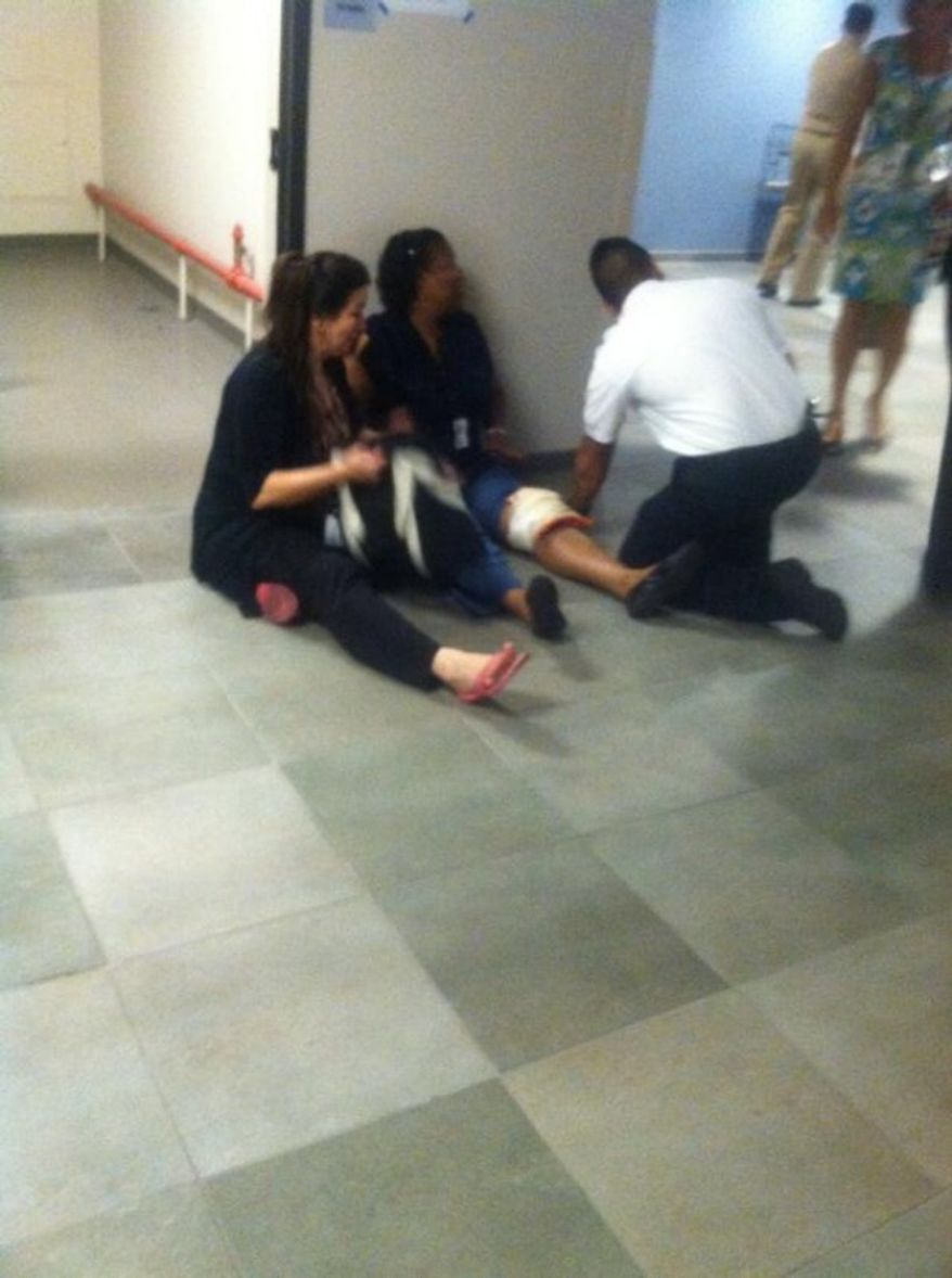 A female victim in the Washington Navy Yard shooting. (credit:@LahdeePops/Twitter)