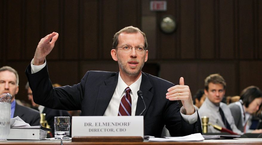 """""""We as a society have a fundamental choice of whether to cut back on [entitlements] or to raise taxes to pay for them. And so far, we've chosen to do very little of either,"""" says Congressional Budget Office Director Douglas Elmendorf. (associated press)"""