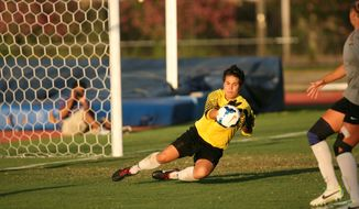 VCU goalkeeper Emma Kruse thought her soccer days were over after playing at Forest Park High School, but she ended up starting for the Rams. (VCU Athletics)