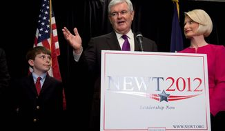 """A statement from former Speaker Newt Gingrich says be """"is not running"""" for the U.S. Senate and tells people to ignore solicitations by a Virginia PAC trying to draft him. (associated press)"""