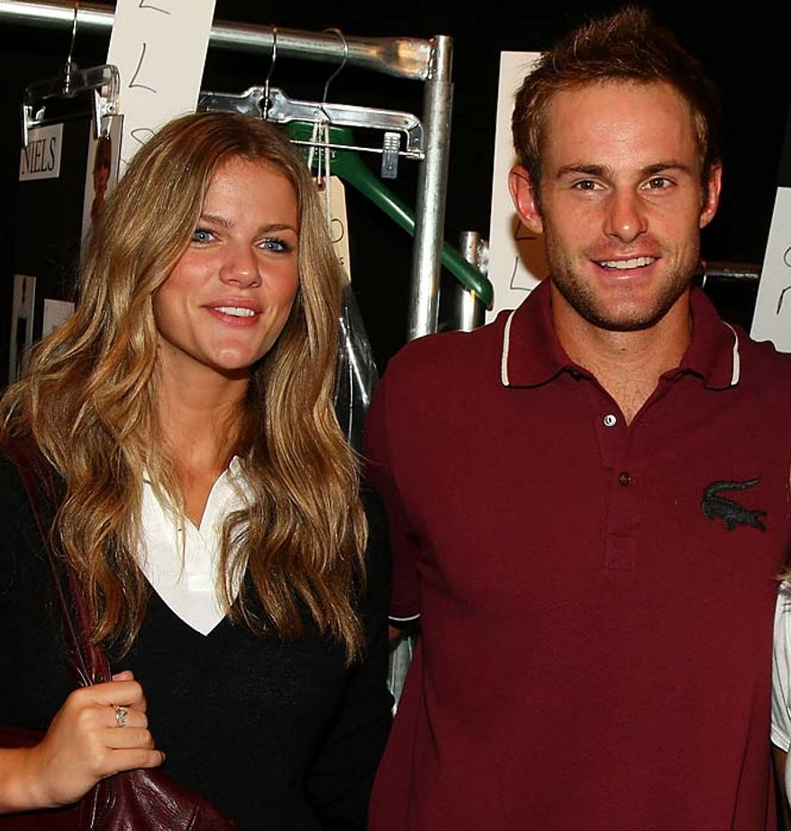 Former tennis star Andy Roddick and super-model Brooklyn Decker didn't make Forbes' list, but she still thinks he's aces.