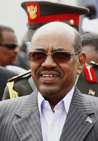 Wanted man: Sudanese President Omar Bashir, accused of genocide and other crimes, wants to address the U.N. General Assembly. (Associated Press)
