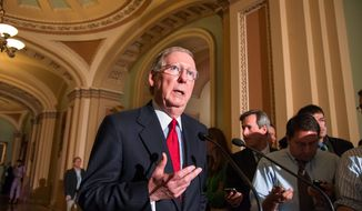 """Destroying chemical weapons is extremely challenging,"" said Senate Minority Leader Mitch McConnell, Kentucky Republican. A chemical weapons oxidation facility is being constructed in his state. (Associated Press)"