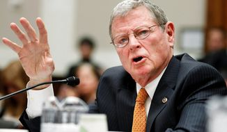 **FILE** Sen. James M. Inhofe, Oklahoma Republican (Associated Press)