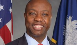 The Conservative Political Action Conference says a screenshot that appeared to confuse South Carolina Sen. Tim Scott (pictured) with Dr. Ben Carson is a Photoshopped fake.
