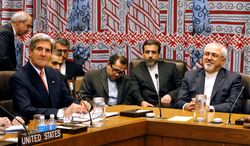 Secretary of State John F. Kerry had a rare one-on-one meeting with Iranian Foreign Minister Javad Zarif at a meeting of the five permanent members of the Security Council plus Germany during the 68th session of the U.N. General Assembly. (Associated Press)