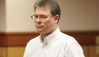 ** FILE ** Stacey Rambold stands in a courtroom on Monday, Aug. 26, 2013, in Billings, Mont., after sentencing by Judge G. Todd Baugh for the rape of Cherice Moralez. (AP Photo/Billings Gazette, Paul Ruhter)
