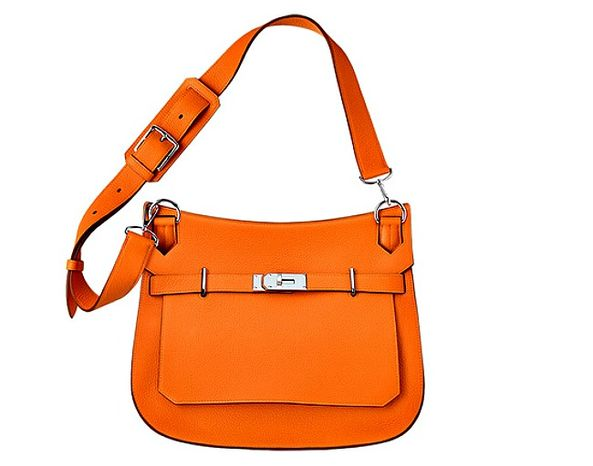 This Jypsiere shoulder bag in orange by Hermes sells for $8,650. (Screen grab from USA.Hermes.com)