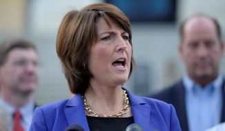 Rep. Cathy McMorris Rodgers, Washington Republican, said that presidents have routinely negotiated with lawmakers in the past to reach agreements to increase borrowing, from Ronald Reagan to Bill Clinton to Mr. Obama himself in 2011.