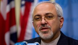 """Iranian Foreign Minister Mohammad Javad Zarif said """"The Holocaust is not a myth. Nobody's talking about a myth,"""" when asked about the characterization. (Associated Press)"""