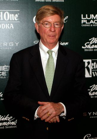 """Broadcaster George Will is changing teams, leaving ABC News for a spot on Fox News Channel. """"His wisdom is enduring and his achievements are far too long to list,"""" says Michael Clemente, his new boss. (AP Images for Crown Royal)"""