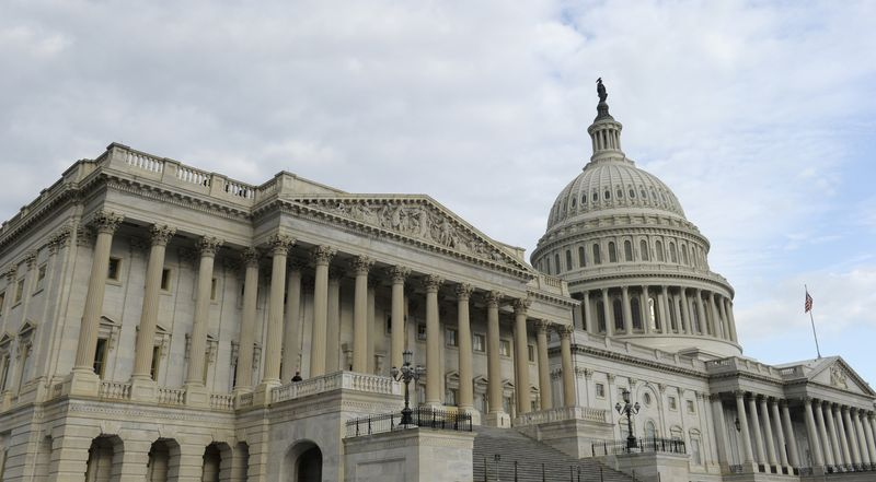 The House of Representatives is in the foreground of the U.S. Capitol. (AP Photo/Susan Walsh)