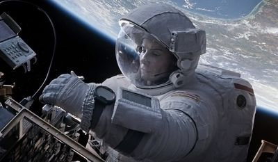 "Sandra Bullock in a scene from ""Gravity."" (AP Photo/Warner Bros. Pictures)"