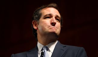 Sen. Ted Cruz, Texas Republican, speaks at the Family Foundation of Virginia's annual gala at the Greater Richmond Convention Center on Saturday, Oct. 5, 2013, in Richmond. (AP Photo/Richmond Times-Dispatch, Daniel Sangjib Min)