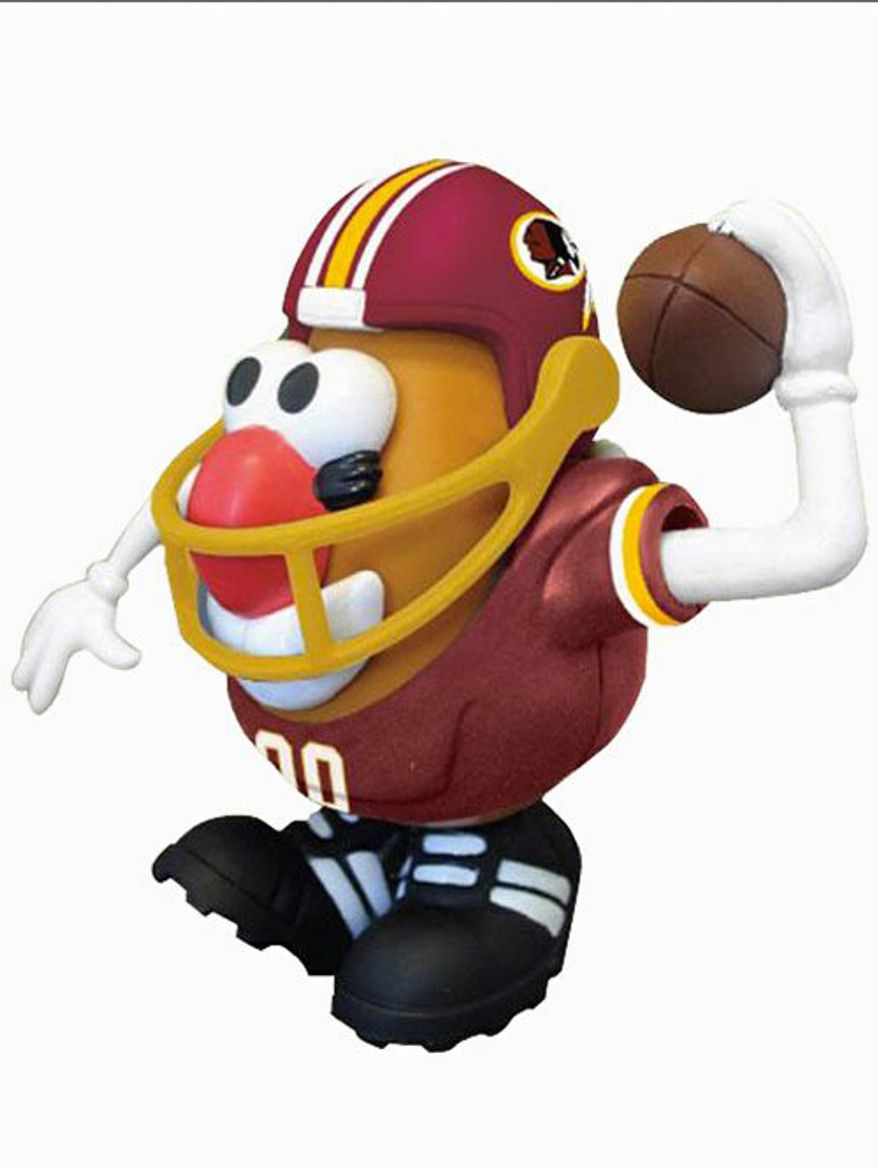 "Could controversy and political correctness cause the Washington Redskins to be redefined as Redskins, as in the potato variety? There's already a ""Redskins Mr. Potato Head"" out there at the team store. (PPW TOYS)"
