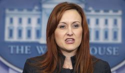 **FILE** Heather Zichal, deputy assistant to the President for Energy and Climate Change speaks during the daily news briefing at the White House on March 12, 2012. (Associated Press)