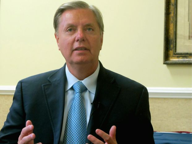 Sen. Lindsey Graham of South Carolina wants Abu Anas al-Libi taken to the U.S. prison at Guantanamo Bay, Cuba, as an enemy combatant and interrogated. (Associated Press)