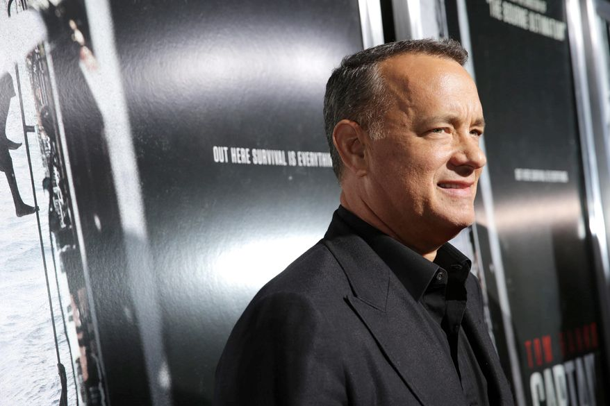 Tom Hanks arrives at Columbia Pictures screening of 'Captain Phillips', on Monday, Sept. 30, 2013 in Beverly Hills, Calif. (Photo by Eric Charbonneau/Invision for Sony Pictures/AP Images)