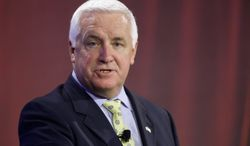 DEFENDANT: Pennsylvania Gov. Tom Corbett has compared the marriage of same-sex couples to the marriage of a brother and sister. He and the state health secretary are targets of a federal lawsuit against a ban on gay marriage. (Associated Press)
