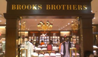 A Brooks Brothers retail clothing establishment.